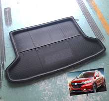 2017 ACCESSORIES FIT FOR Honda HR-V VEZEL HRV 2014 2015 2016 BOOT MAT REAR TRUNK LINER CARGO FLOOR TRAY PROTECTOR CARPET cargo trunk liner floor mat rear cargo tray for honda fit odyssey city vezel xr v xrv rear trunk tray cover