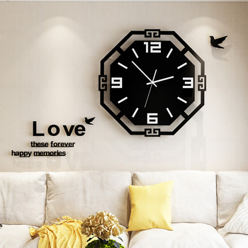Acrylic 3D Digital Wall Clock With 3MM Wall Stickers Modern Design Silent Metal Needle Quartz Watch For Kitchen Living Room
