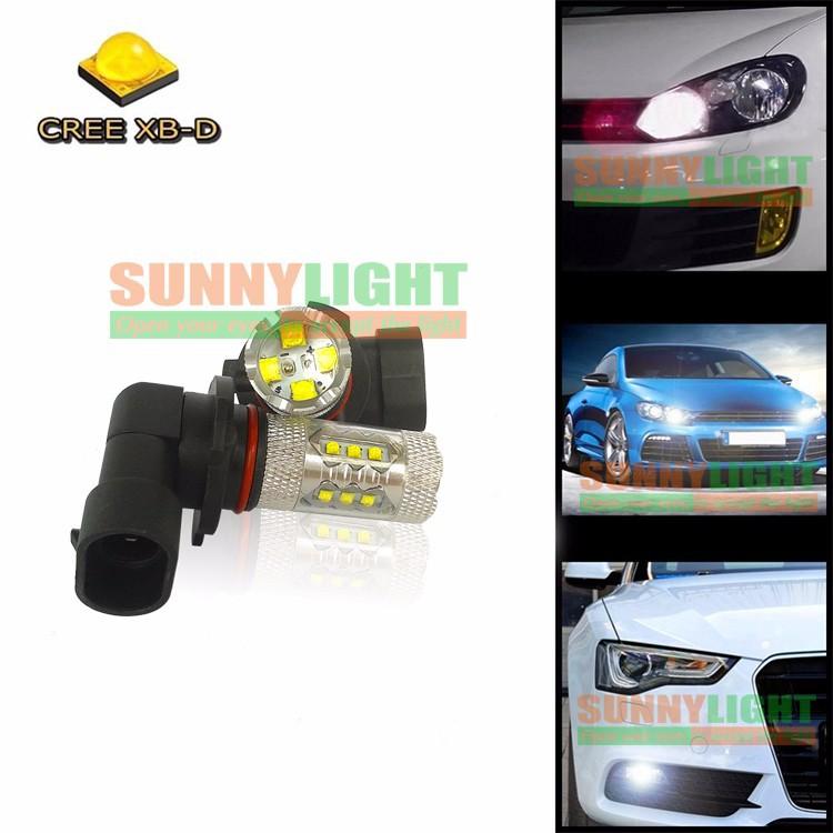 HB3 9005 80W LED Bulbs for Cars High Power Cree XB-D Ultra Bright 6000K Xenon White Automobiles Head DRL Fog Lights Source (11)