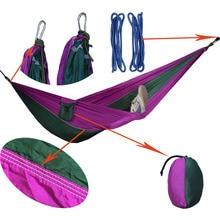 2 People Portable Parachute Hammock Outdoor Survival Camping Hammocks Garden Leisure Travel Double hanging Swing 270cmx140cm