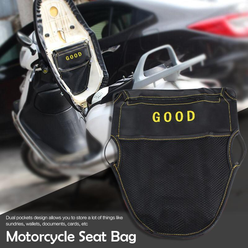 Universal Type PU Leather Motorcycle Scooter Accessories Sundries Under Seat Storage Pouch Bag Organizer