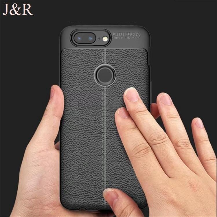J & R чехол для OnePlus 5 т задняя крышка один плюс 5 т Встроенная защитный Чехол личи шаблон Мягкие ТПУ В виде ракушки ультра тонкая кожа роскошь 6....