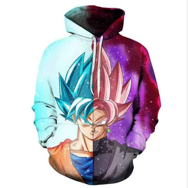 Dragon Ball Z 3D Pullovers Sportswear Hooded Sweatshirt Men Hoodie