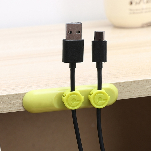 1PC Magnetic Ttiny Wire Cable Organizer Desktop & Workstation Clips Cord Management USB Charging Data Line Cable Winder Durable