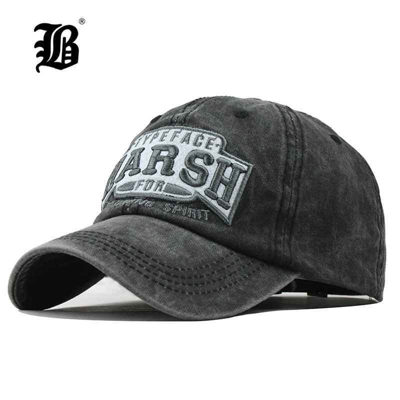 [FLB] 100% Washed Cotton Men   Baseball     Cap   Fitted   Cap   Snapback Hat For Women Gorras Casual Casquette Embroidery Retro   Cap   F312