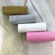 15cm 10Yards Glitter Tulle Roll Sparkly Organza  DIY Party Crafts Tutu Skirt Baby Shower Wedding Birthday Supplies
