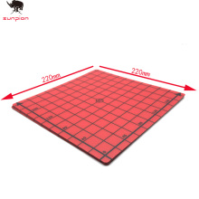 SUNPION 1pcs 3D Printer Heat Bed Sticker Coordinate Printed 220x220mm Hot Surface red blue for Parts