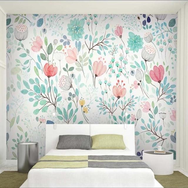 Watercolor Fl Wallpaper Mural Fresh Small Flowers Wall Murals Decals Paper Rolls Nursery