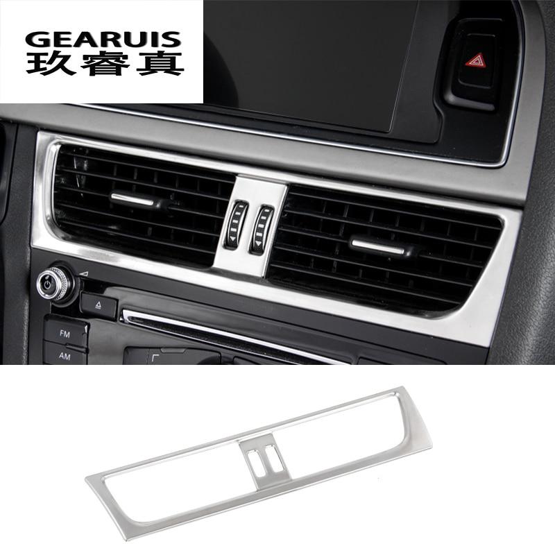 Car styling Car Interior Front air conditioner outlet Decorative Frame Cover Sticker Trim for Audi a4 b8 a5 auto Accessories|a4 trim|audi a4 interior trimaudi a5 trim -