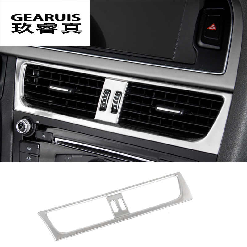 a065b54d48b Car styling Car Interior Front air conditioner outlet Decorative Frame Cover  Sticker Trim for Audi a4