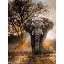 Full Square Drill 5D DIY Diamond Painting elephant handmade 3D Embroidery arts Cross Stitch Mosaic Decor gift VIP цена