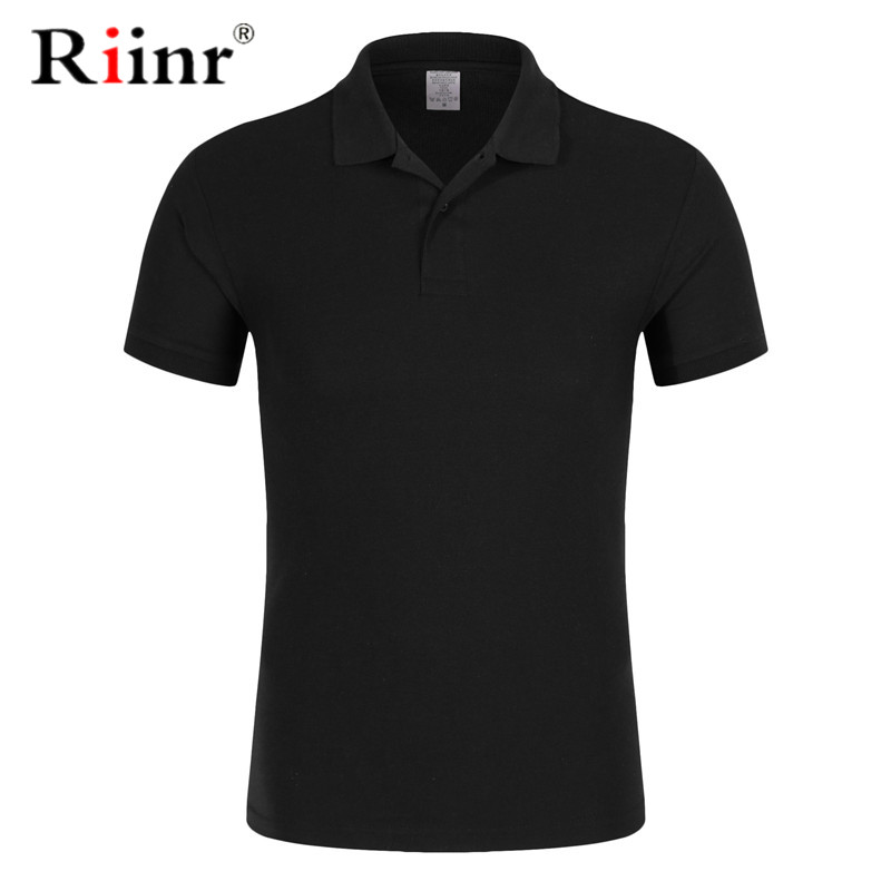 New Men's Polo Shirt High Quality Cotton Short Sleeve Shirt Summer Breathable Solid Male Polo Shirt Casual Business Menswear