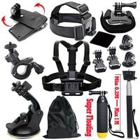 Black Pro Basic Common Outdoor Sports Kit for GoPro Hero 6/GoPro Fusion/HERO 5/Session5/4/3+/3/2/1 SJ4000/5000/6000/AKASO/APEMAN