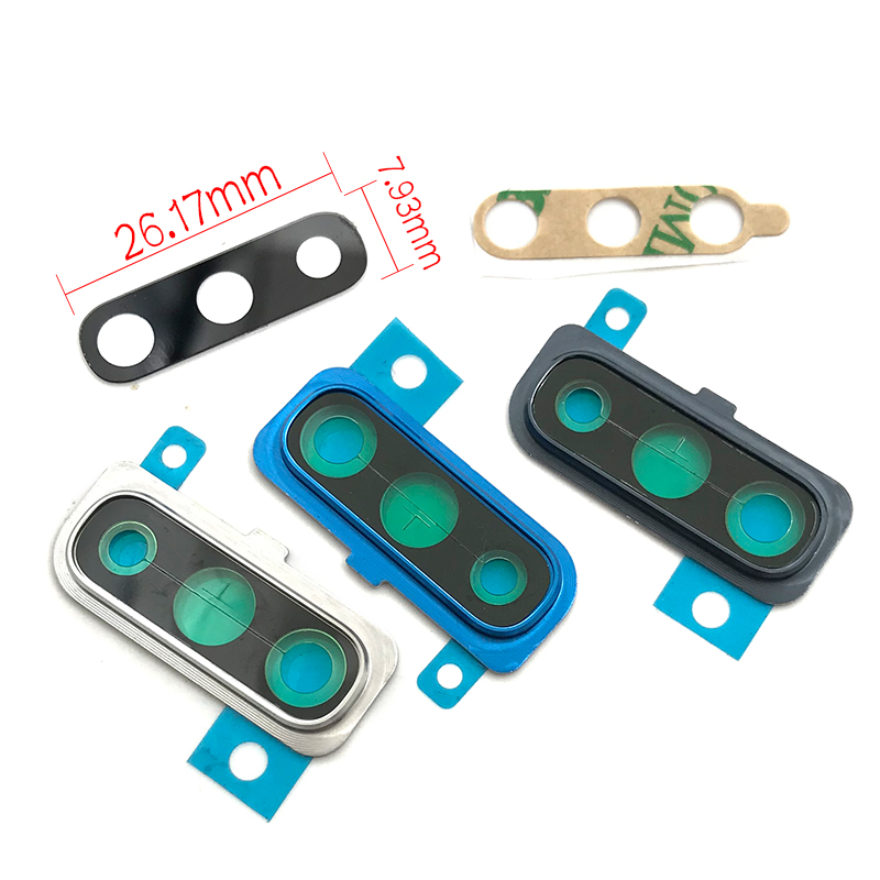 For Samsung Galaxy A70 Rear Camera Glass Lens Cover With Frame Holder With Sticker Replacement Spare Parts
