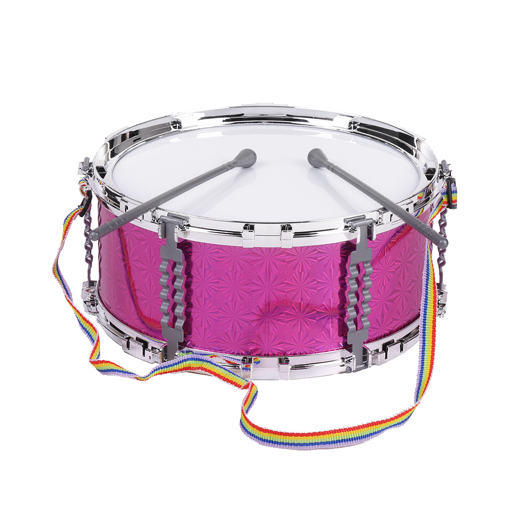colorful jazz snare drum percussion instrument with drum sticks strap musical toy for children. Black Bedroom Furniture Sets. Home Design Ideas