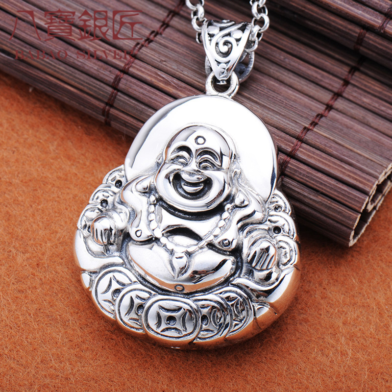 maitreya pendant Thai silver restoring ancient ways is the buddhist peace between men and women sweater chain pendant цены онлайн