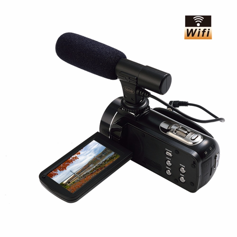 WIFI Camcorder FHD 1080p @ 30 FPS Max 24.0 MP 3.0 Screen 16X Digital Zoom Digital Camera Photo Video Recorder DV 502 ...