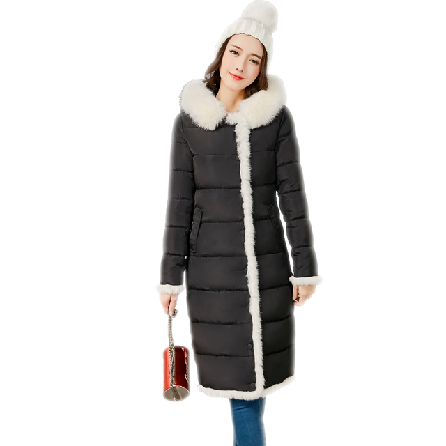 2017 Fashion NEW Winter Long Women's Cotton Jacket Padded Quilted ... : white quilted coat - Adamdwight.com