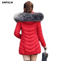 2017 New Winter Jacket Women Parkas For Coat Fashion Female Warm Down Jacket With A Hood