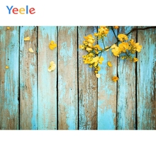 Yeele Grunge Faded Wooden Board Planks Withering Yellow Flowers Photography Backgrounds Photographic Backdrops For Photo Studio