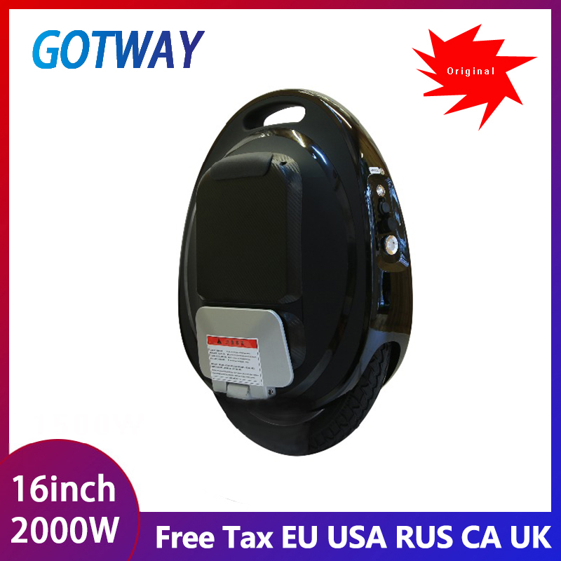 New Gotway Tesla 16inch one wheel scooter Electric unicycle Balance car single wheel 2000W motor,life 40-100km,speed 50km/h+
