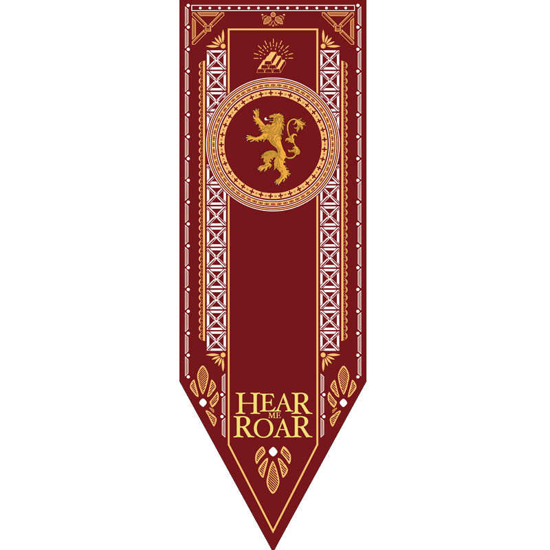 Home Decor Game Of Thrones ธงแบนเนอร์บ้าน Stark Targaryen Lannister ตกแต่ง A Song of Ice and Fire