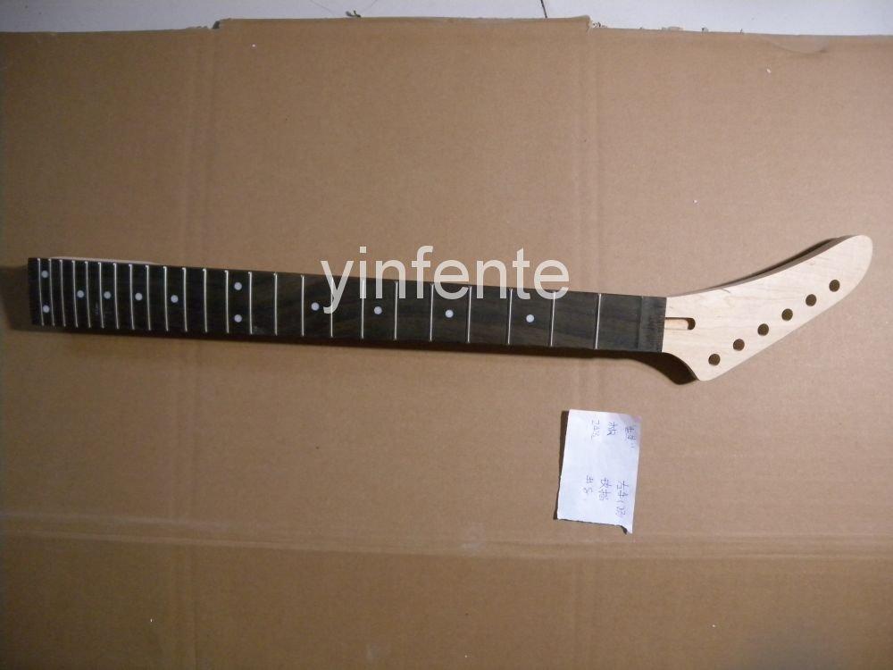 Nouveau haute qualité inachevé guitare électrique cou en bois massif corps et touche modèle 1 pièces #8