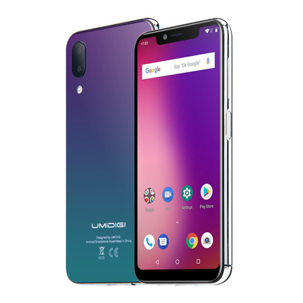Stock in Europe UMIDIGI UMI ONE 4GB 32GB ROM Helio P23 MTK6763 2.0GHz Octa Core 5.9 Inch Incell HD+ Full Screen 4G Smartphone