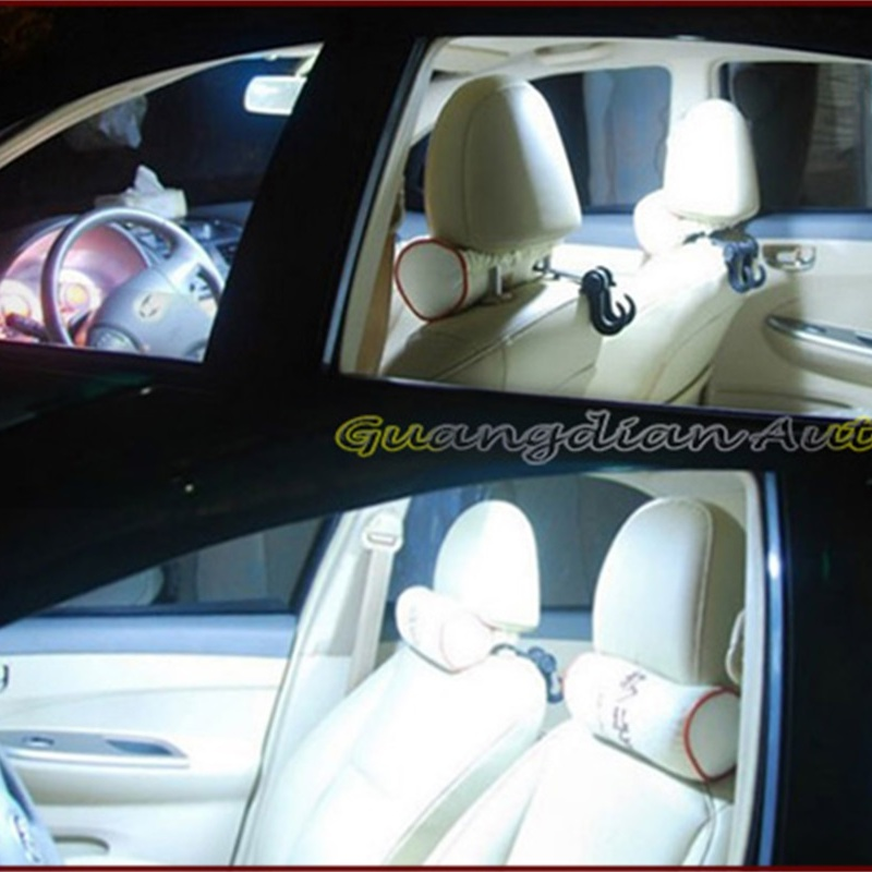 Tcart 6pcs Car Led Interior Light Kit Auto White Reading Lamps 5050 Dome Light T10 Festoon For Nissan Leaf accessories 2010-2016