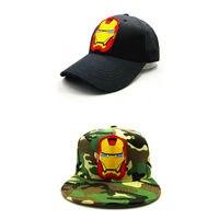 2e003292214018 LDSLYJR iron hero embroidery cotton Baseball Cap hip-hop cap Adjustable  Snapback Hats for kids