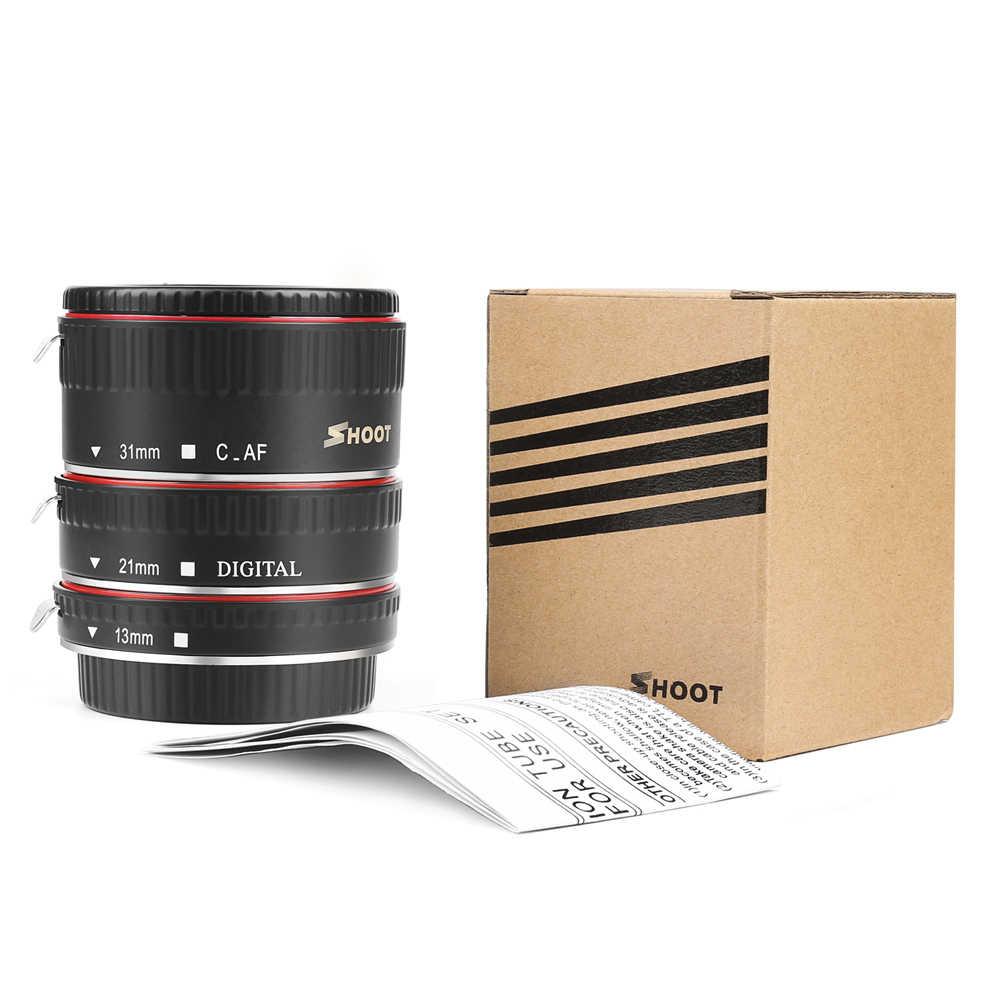 ยิงสีแดงโลหะTTL Auto FocusมาโครหลอดแหวนสำหรับCanon 600D 550D 200D 800D EOS EF EF-S 6Dสำหรับกล้องCanonอุปกรณ์เสริม