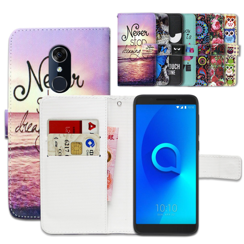 Cartoon Wallet Case for Alcatel 3 5052D 5052Y 100% Special Luxury PU Leather Flip Cover Book case