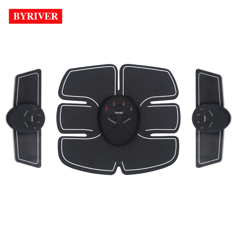 BYRIVER Ultimate Electric Wireless Muscle Abdominal Stimulator Pads EMS Trainer Massager Smart Abs Stimulating Machine Exerciser portable electric smart fitness gear equipment slim massager ems electrical muscle stimulator muscle stimulator training gear
