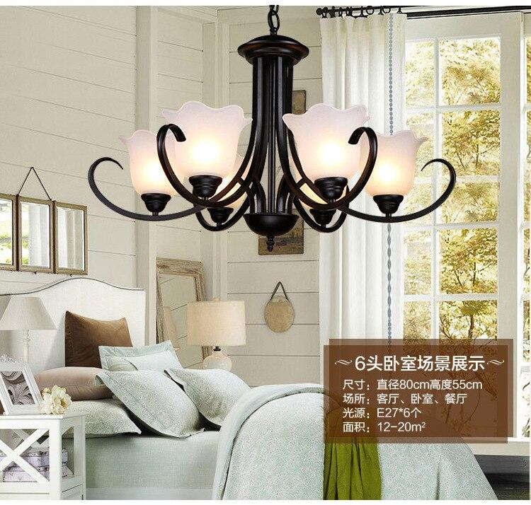 Lustres en Fer forgé Éclairage lampadario Hanglamp lampara Luminaire En Verre Maison led lampadari de beaux lustres