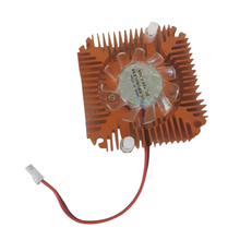 Hot Sale High Quality PC Laptop CPU VGA Video Card 55mm Cooler Cooling Fan Heatsink centechia mini 55mm 2 pin graphics cards cooling fan aluminum gold heatsink cooler fit for pc computer cpu vga video card