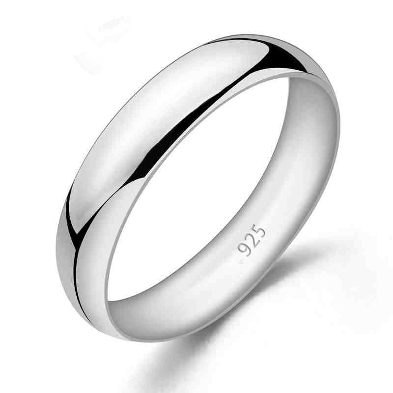 Valentines Day Gift 925 Sterling Silver Couples Wedding Band Rings