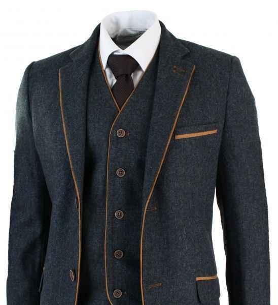 9e2ce67306 Detail Feedback Questions about Latest Coat Pant Designs Grey Trim Tweed  Men Suit Slim Fit 3 Piece Tuxedo Custom wedding Suits Groom Prom Blazer  Terno ...