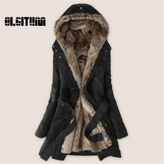 Women's Winter Coat Women Clothes Lamb Wool Jacket Thickening Warm Hooded Parka Overcoat PLUS SIZE XXXL  CD161