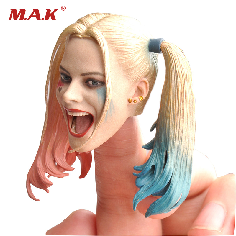 1/6 Female Joker Harley Quinn Head Sculpt Toy for 12 inches Action Figures Accessories 1 6 scale the game of death bruce lee head sculpt and kungfu clothes for 12 inches figures bodies