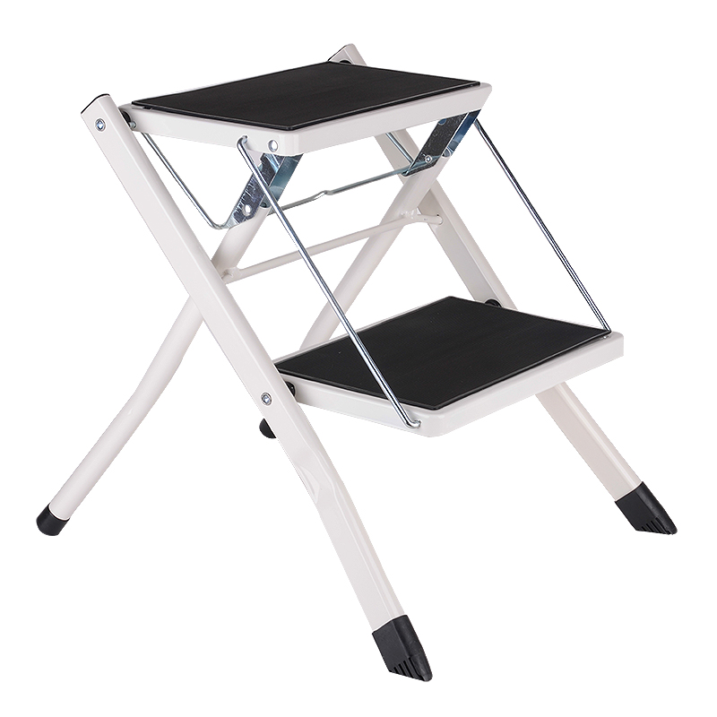Folding Mini 2 Layer Step Ladder Non-slip Step Ladder Sturdy Steel Tube Safety Step Stoo ...