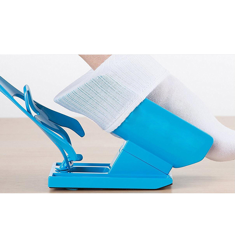 Slider Aid Kit Sock Helper No Bending Pregnancy and Injuries Living Tool Shoe Horn Suitable Easy Way To Put On Socks Protect sock slider aid blue helper kit help
