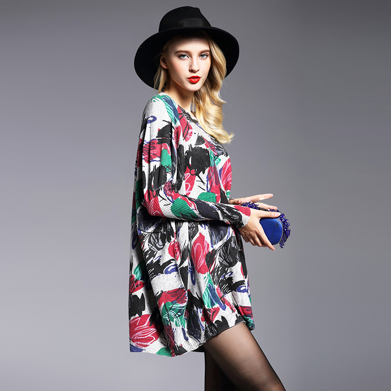 XIKOI Oversized trui Dames trui Mode Lange Batwing mouwen Pullover - Dameskleding - Foto 3