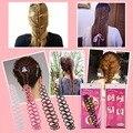 Женщины Леди Французский Волос Плетение Инструмент Плетельной Ролика Крюк С Магия Волос Twist Стайлинг Bun Maker Волос Группа Аксессуары
