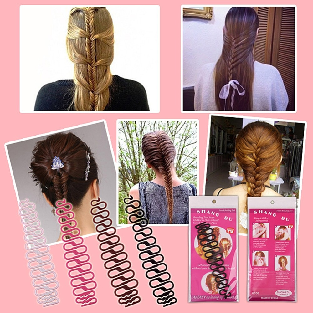 Women Lady French Hair Braiding Tool Braider Roller Hook With Magic Hair Twist Styling Bun Maker Hair Band Accessories заколка french twist