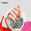 YZWLE 2017 Newest Nail Stamping Plates 20 Styles For Choice Nail Art Round Stainless Stamping Template DIY Polish Templates