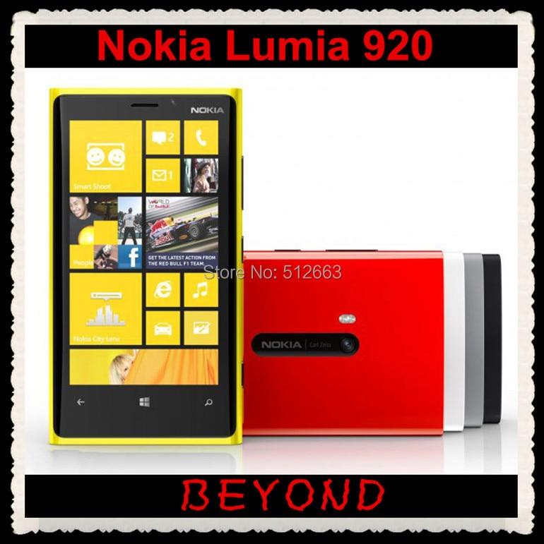 bilder für Original Nokia Lumia 920 entsperrt Windows handy WIFI GPS 4,5 ''8MP 3G & 4G GSM 32 GB internen Speicher freeshipping