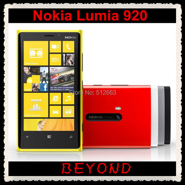 Original Nokia Lumia 920 unlocked Windows mobile phone WIFI GPS 4.5'' 8MP 3G&4G GSM 32GB internal Storage freeshipping