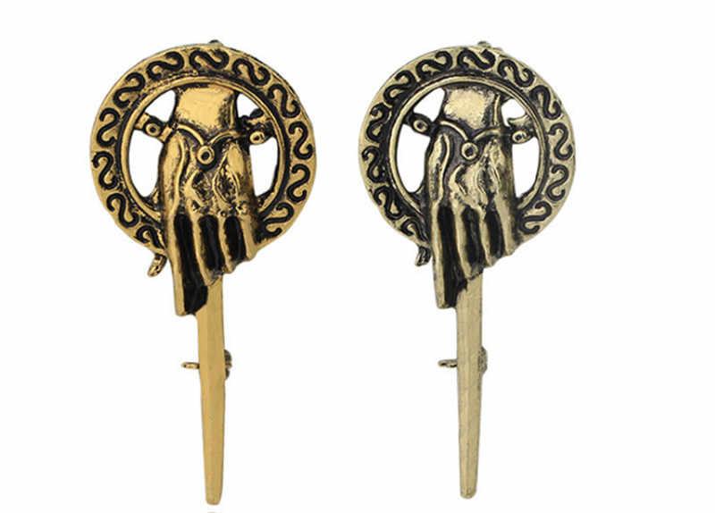 อะนิเมะเกม of Thrones เพลงน้ำแข็งและไฟเข็มกลัดมือ Lapel แรงบันดาลใจแท้ Prop Badge เข็มกลัด pins เครื่องประดับภาพยนตร์