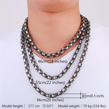 Two Tone Motorcycle Biker Jewelry Chain Stainless Steel Chunky Necklace Men Trendy Hip Hop Byzantine Chain Necklace N417