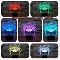 Magical 3D Spider Lamp Colorful Ornaments Touch Nightlight Party Scene realistic Props funny toys Home Cafe Bar festival supply